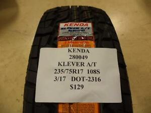 2 Kenda Klever A T 235 75 17 108s Brand New Tires 280049