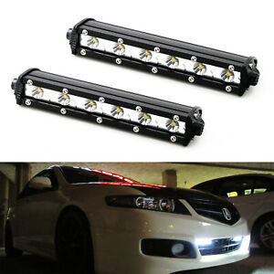 18w High Power Cree Led Daytime Running Light Kit W Relay Wire Harness For Cars