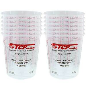 64 Ounce 2 Quart Paint Epoxy Mixing Cup Calibrated Ratios Pack Of 12 Cups