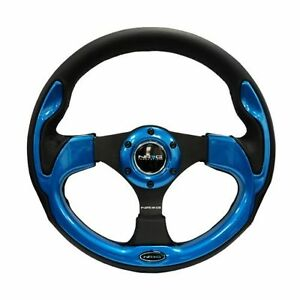 Nrg St 001bl Sport Steering Wheel Black Leather W Blue Trim 320mm