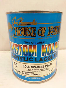 R3 Gold Sparkle Pearl lacquer House Of Kolor Auto Paint 1 Quart