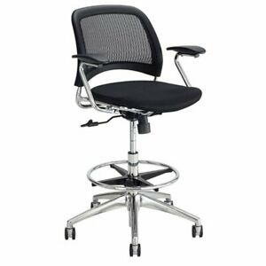 Safco Mesh Extended Height Drafting Chair In Black