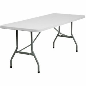 Flash Furniture 72 X 30 Plastic Folding Table In White