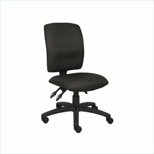 Boss Office Black Multi Function Task Chair With Large Base In Black