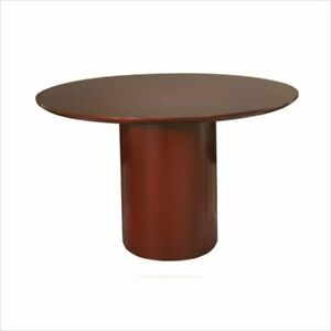 Mayline Napoli 48 Round Conference Table In Sierra Cherry