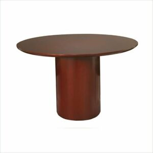 Safco Napoli 48 Round Conference Table In Sierra Cherry