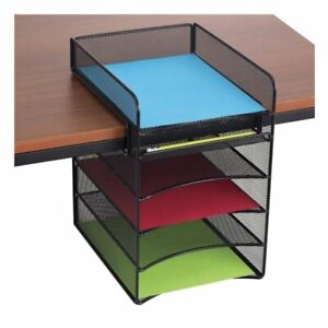 Safco Onyx Horizontal Hanging Desk Organizer In Black
