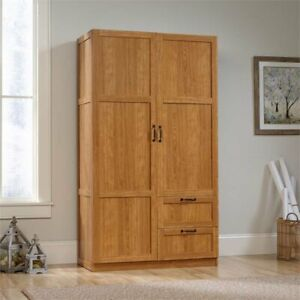 Sauder Select Wardrobe Armoire In Highland Oak
