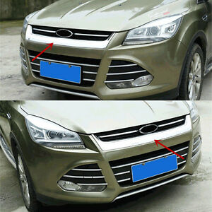 For Ford Escape Kuga 2013 16 Chrome Front Hood Bonnet Grille Cover Mesh Abs Trim