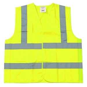 25 Pieces Class Ii Fluorescent Yellow Polyester Fabric Safety Vest Size 6xl