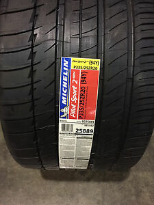 2 New 335 25 20 Michelin Pilot Sport 2 Zp Run Flat Set Of 2 Tires