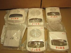 Lot Of 5 New Simplex Truealert White Fire Alarm Covers
