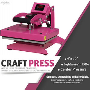 Craft Heat Press 9 x12 For Crafters Hobbyists Home base Entrepreneurs