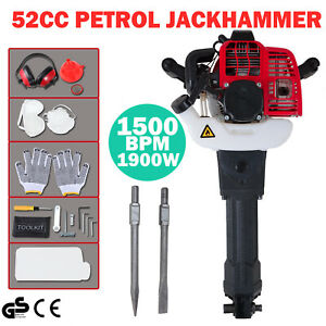 Gasoline Demolition Jack Hammer Gas Breaker Jackhammer Punch Drill 1900w 52cc