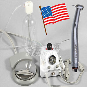 Portable Dental Air Turbine Fit Compressor W 3way Syringe fast Handpiece Lexi