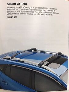 2017 2018 Subaru Impreza Aero Roof Rack Crossbar Set Kit E361sfl000 Genuine New