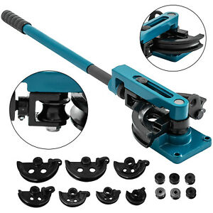 Hot Hand Operated Tubing Pipe Bender W Round Tube Dies 3 8 1