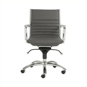 Eurostyle Dirk Low Back Office Chair In Gray chrome