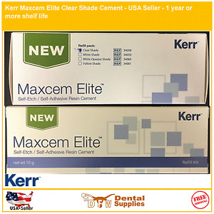 Genuine Kerr Maxcem Elite Clear Shade Cement 34058