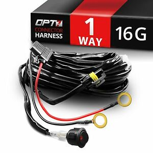 Wiring Harness Kit Loom For Led Light Bar With Fuse Relay Wire Single Connector