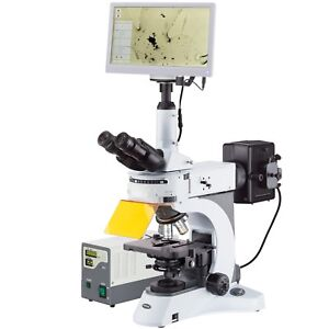 40x 1000x Upright Fluorescence Microscope With Rotating Multi filter Turret Hd
