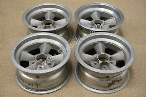 Vintage 14 X 7 Aluminum 5 Spoke Wheels 5 On 4 5 Ansen American Racing Ford