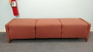 Knoll Custom Fabric Bench 21 d X 75 w X 18 h 2 Available Great Condition