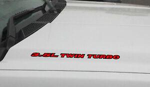 3 5l Twin Turbo Hood Vinyl Decal Sticker Ford F150 Mustang Ecoboost V6 Outlin