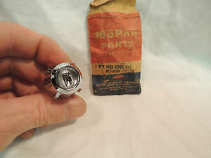 Nos 1957 1958 Dodge Passenger Wiper Switch Knob Mopar 1769741