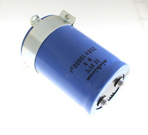 1x 10000uf 250v Large Can Electrolytic Aluminum Capacitor 10000mfd 250vdc 10 000