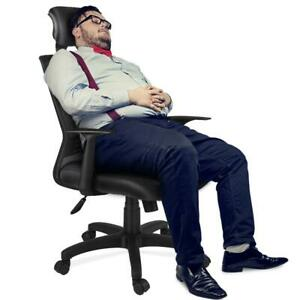 Padded Headrest Mesh Office Chair With Adjustable Headrest