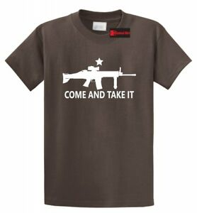 Come And Take It T Shirt Gun Lover Ar15 Rights 2nd Amendment Gift Tee $12.22