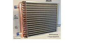 20x25 Water To Air Heat Exchanger 1 Copper Ports W Ez Install Front Flange