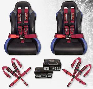 2 Stv Motorsports Safety Seat Belt Harness V Type Latch And Link 5 Point 3 Pink