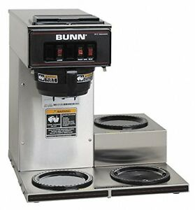 Bunn 13300 0003 Vp17 3ss3l Pourover Commercial Coffee Brewer With Three Lower Wa