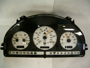 Usa 2002 2005 Mercedes W163 M Class Amg White Gauge Face Overlay Free Ship