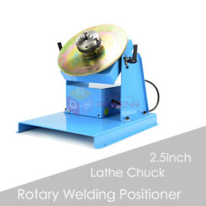 110v 220v Rotary Welding Positioner Turntable Table Mini 2 5 3 Jaw Lathe Chuck