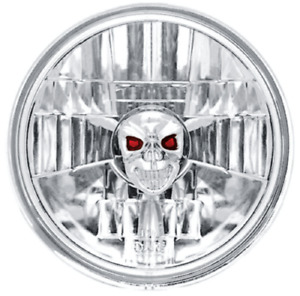 Ipcw Cwc 7002 Single Universal 5 3 4 Round Conversion Headlight With Skull