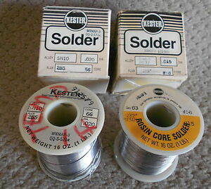 Kester Solder Two Rolls Used But Almost Full 045 020
