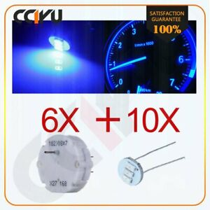 6x Gm Gmc Stepper Motor X27 168 Speedometer Cluster Repair Kit 10 Blue Led Bulbs