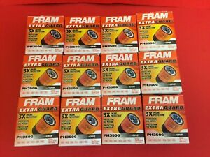Lot Of 12 Engine Oil Filter Extra Guard Fram Ph3506 For Chevy Avalanche Express