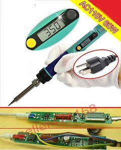 110v Lcd Soldering Iron Adjustable Temperature Digital Electric 80 450 c 936d