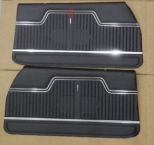 1970 1971 1972 Chevelle Pui Platinum Front Interior Door Panels Assembled