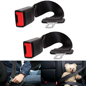 2x 14 Car Seat Belt Extention Extender Safety 7 8 Buckle Black