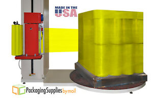 2 Rolls Tinted Yellow Machine Pallet Stretch Wrap Shrink Film 20 X 5000 80 Ga