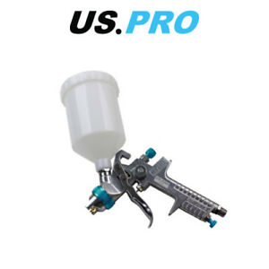 Us Pro Gravity Feed Hvlp Spray Gun 1 4 Nozzle 600mm Cup 8769
