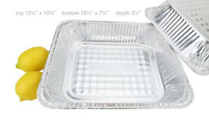 Combo Pack 1 2 Size Steam Table Foil Pan With Foil Lid Deep 100 Pack 4200l