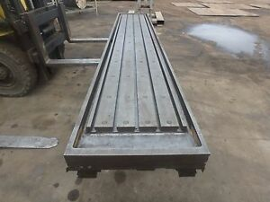157 X 28 x 8 Steel Welding T slot Table Cast Iron Layout Plate Fixture 5 Slot