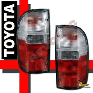 Red Clear Tail Lights Lamps Rh Lh For 95 00 Toyota Tacoma Pickup Truck