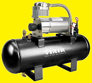 Viair Air Ride Suspension Tank Fast Fill 120 Onboard Air Source 275 Compressor